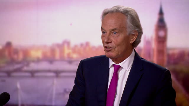 """tony blair saying biometric id's are """"an obvious change"""" - direction stock videos & royalty-free footage"""