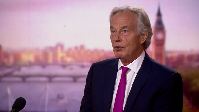 """tony blair saying it is important people are given """"an incentive"""" to get vaccinated against coronavirus - motivation stock videos & royalty-free footage"""