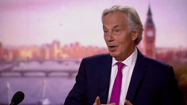 """tony blair saying """"when it comes to risk management, it's all about discrimination"""" in regards to covid vaccines - risk stock videos & royalty-free footage"""