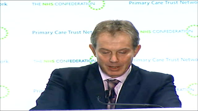 tony blair speech calling for further nhs reforms that is why it makes sense alongside local provision to create specialist centres of excellence... - self improvement stock videos and b-roll footage