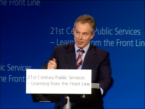 Tony Blair speech on crime and public services Now the interesting thing is when you talk about this in relation to health or education or local...