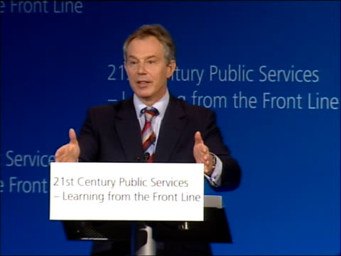 stockvideo's en b-roll-footage met tony blair speech on crime and public services one of the things again that i have learnt particularly in relation to things like antisocial... - probatie
