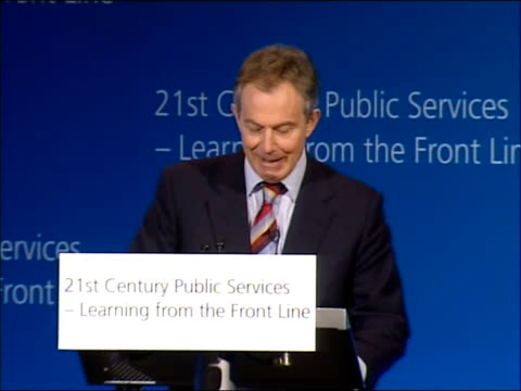 tony blair speech on crime and public services so out of that has really arisen what i would say are basically four principles of public service... - things that go together stock videos & royalty-free footage