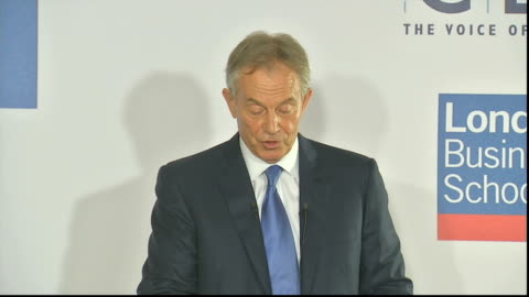tony blair speech to the cbi; tony blair speech sot - energy policy is now of vital importance, not only for the competitiveness of europe, but also... - eastern european culture stock videos & royalty-free footage