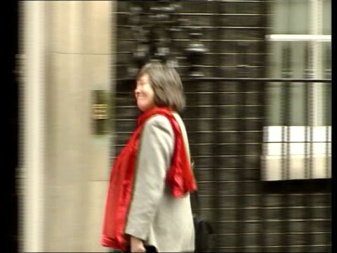 tony blair stands firm after commons revolt downing street ms clare short mp along to no10 pan ms robin cook mp along ms bertie ahern along pan and... - bertie ahern stock videos and b-roll footage
