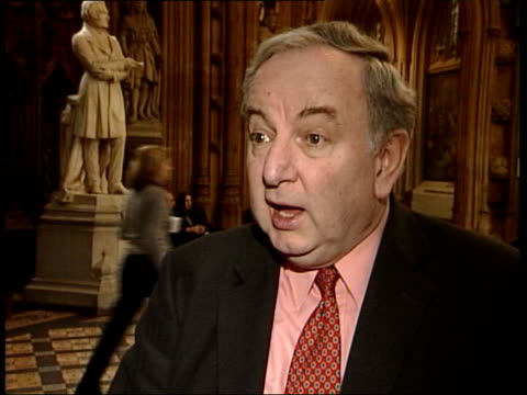 tony blair stands firm after commons revolt int george foulkes mp interview sot if military action is short and successful weapons of mass... - weapons of mass destruction stock videos and b-roll footage