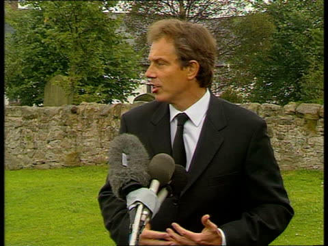 tony blair statement tony blair mp speech sot i feel like everyone else in this country today utterly devastated our thoughts and prayers are with... - only boys stock videos & royalty-free footage