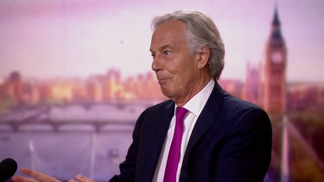 """tony blair talking about the need for """"a global infrastructure to tackle future pandemics"""" - direction stock videos & royalty-free footage"""