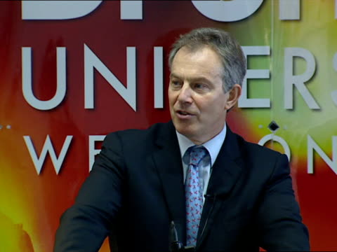 tony blair visit to brunel university: walkabout / speech; - so, there is no doubt that we are in a fundamentally stronger shape than some years back... - no doubt band stock videos & royalty-free footage