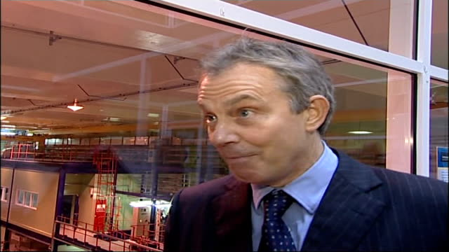 Tony Blair visit to Sellafield Nuclear Power Plant Tony Blair MP interview SOT [Asked about significance of his visit] I think it's a sign that...