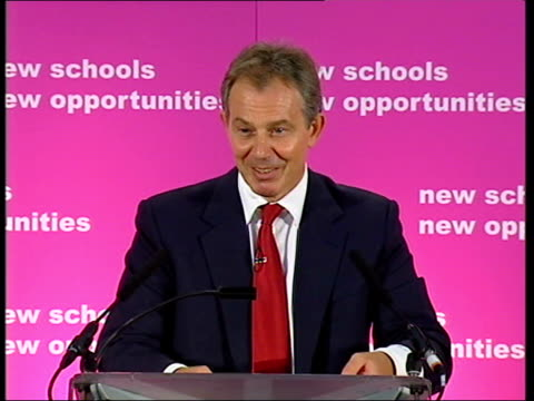 tony blair visits haberdashers' aske's hatcham college city of london academy taken from labour party website tony blair mp speech sot it is a... - schulleiter stock-videos und b-roll-filmmaterial