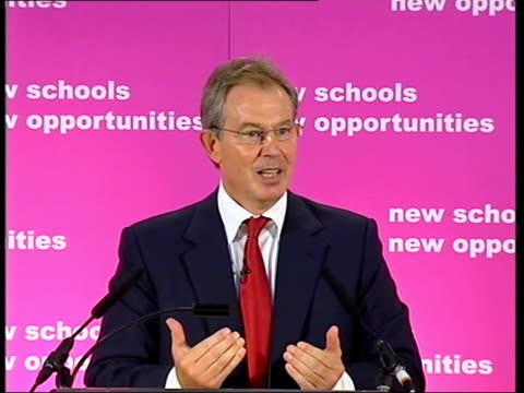 Tony Blair visits Haberdashers' Aske's Hatcham College Tony Blair MP speech SOT These improvements are a tribute to the leadership of good...