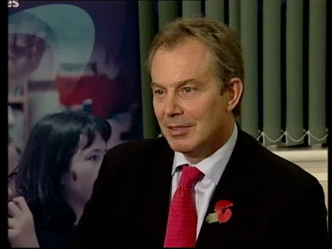 tony blair's authority in crisis after blunkett resignation and terrorism bill tony blair mp interview sot life is always tough when you're doing... - after life stock videos & royalty-free footage