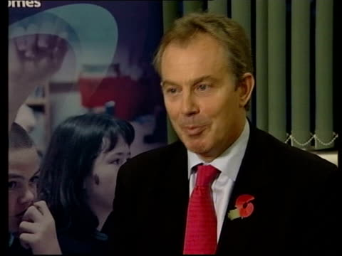 tony blair's authority in crisis after blunkett resignation and terrorism bill manchester tony blair mp interview sot i think for many of those... - politische gruppe stock-videos und b-roll-filmmaterial
