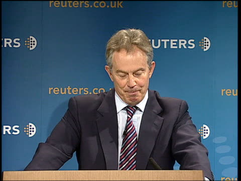 tony blair's final lecture in the 'our nation's future' series you have to respond to stories also in real time / frequently the problem is as much... - politics and government stock videos & royalty-free footage