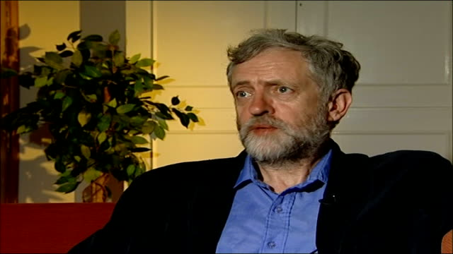 tony blair's tenth anniversary as prime minister jeremy corbyn mp interview sot trevor kavanagh interview sot - jeremy corbyn stock-videos und b-roll-filmmaterial
