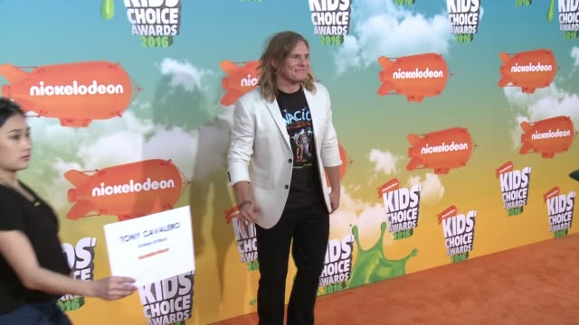 Tony Cavalero at Nickelodeon's 2016 Kids' Choice Awards at The Forum on March 12 2016 in Inglewood California