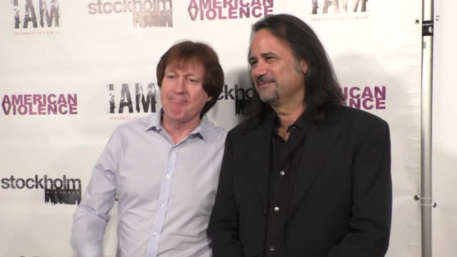 Tony Ciccone Rick Brulte at the American Violence Premiere at Harmony Gold Theater in Hollywood at Celebrity Sightings in Los Angeles on December 07...