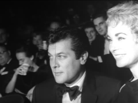 Tony Curtis Janet Leigh seated in Madison Square Garden / Mike Todd's birthday party