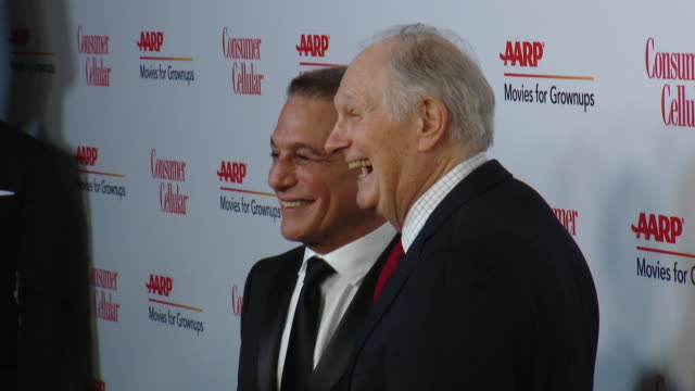 tony danza and alan alda at aarp the magazine celebrates 19th annual movies for grownups awards at beverly wilshire a four seasons hotel on january... - tony danza stock videos and b-roll footage
