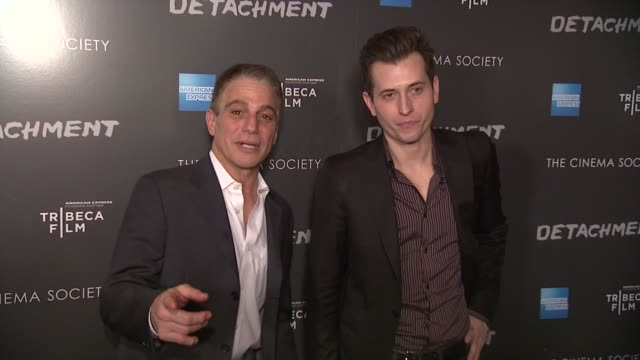 tony danza and peter cincotti at premiere of tribeca film's detachment hosted by american express the cinema society on 3/13/2012 in new york ny... - tony danza stock videos and b-roll footage