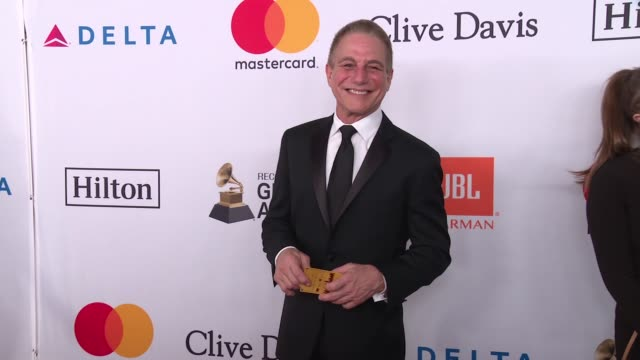 tony danza at clive davis pregrammy gala at sheraton times square on january 27 2018 in new york city - tony danza video stock e b–roll