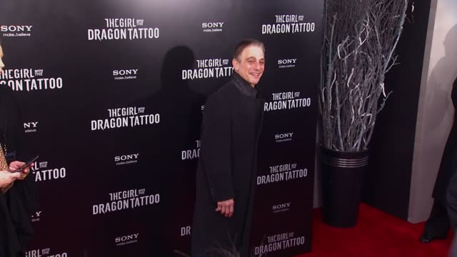 tony danza at 'the girl with the dragon tattoo' new york premiere new york ny united states - the girl with the dragon tattoo stock videos and b-roll footage