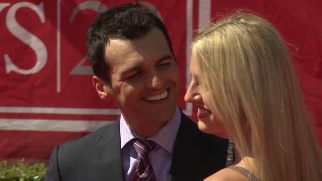 Tony Dovolani and Lina Dovolani at 2012 ESPY Awards on 7/11/2012 in Los Angeles CA