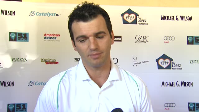 Tony Dovolani on attending today's event on the importance of giving to charities on if he's been practicing for today's round on if he's as good a...