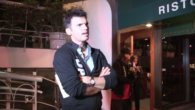 Tony Dovolani on holiday community service Santa Claus at Madeo in West Hollywood 11/19/12