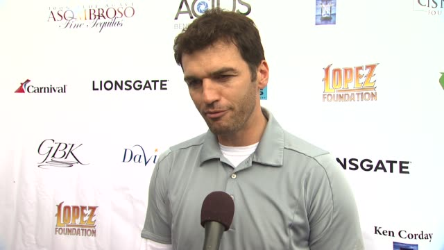 INTERVIEW Tony Dovolani on the event at 6th Annual George Lopez Celebrity Golf Classic MercedesBenz Dealer Championship on 5/6/13 in Los Angeles CA