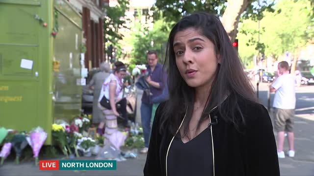 islington flower seller stabbed to death near his stall; england: london: islington: ext various shots of floral tributes at scene of stabbing vox... - salesman stock videos & royalty-free footage