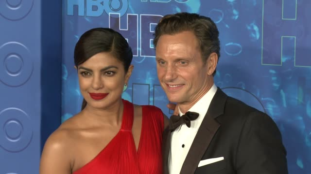 Tony Goldwyn and Priyanka Chopra at the HBO's Post Emmy Awards Reception Arrivals at The Plaza at the Pacific Design Center on September 18 2016 in...
