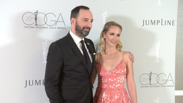 Tony Hale and Anna Camp at the 20th Costume Designers Guild Awards at The Beverly Hilton Hotel on February 20 2018 in Beverly Hills California