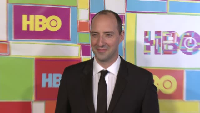 vídeos y material grabado en eventos de stock de tony hale at hbo's official 2014 emmy after party at the plaza at the pacific design center on august 25 2014 in los angeles california - premios emmy