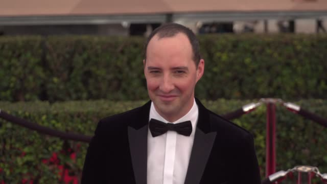 tony hale at the 22nd annual screen actors guild awards - arrivals at the shrine auditorium on january 30, 2016 in los angeles, california. 4k... - shrine auditorium stock videos & royalty-free footage