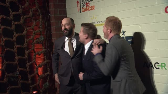Tony Hale James Corden Jesse Tyler Ferguson at Hollywood Stands Up To Cancer Presented By The Entertainment Industry Foundation And Event Chairs Jim...