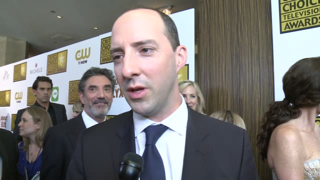 tony hale on being nominated, and on the current great series on tv at the 2014 critics' choice television awards at the beverly hilton hotel on june... - 評論家点の映像素材/bロール