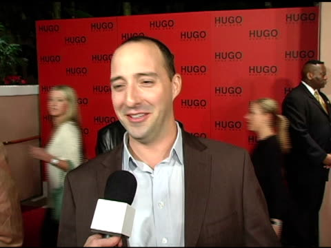 tony hale on why he came to support hugo boss, his expectations for the fall collection, wearing hugo boss to the event and on upcoming projects at... - hugo boss stock videos & royalty-free footage
