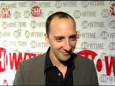 tony hale supporting the film, on his addiction to tivo, arrested development coming back or not and on what he is doing right now/ what's up next at... - tivo点の映像素材/bロール