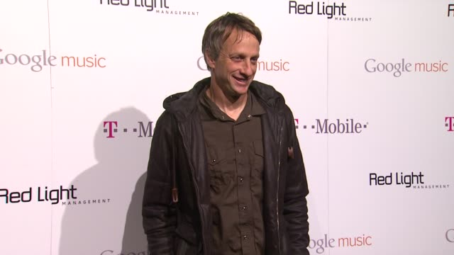 tony hawk at red light management postgrammy celebration hosted by tmobile and google music on 2/12/12 in los angeles ca - google brand name stock videos and b-roll footage