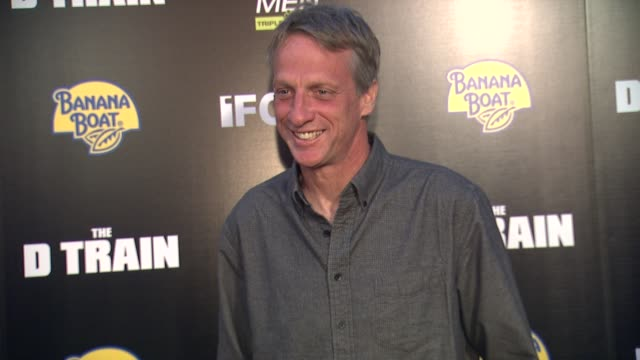 tony hawk at the d train los angeles premiere at arclight cinemas on april 27 2015 in hollywood california - arclight cinemas hollywood stock videos and b-roll footage