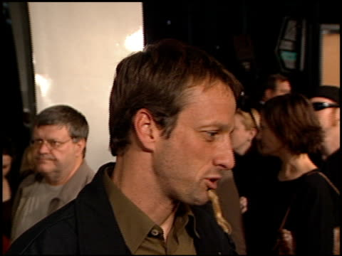 tony hawk at the 'jackass the movie' premiere at the cinerama dome at arclight cinemas in hollywood california on october 21 2002 - arclight cinemas hollywood video stock e b–roll