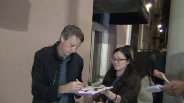 tony hawk greets fans outside the lovelace premiere at the egyptian theatre in hollywood 08/05/13 tony hawk greets fans outside the lovelace premier... - grauman's egyptian theatre stock videos & royalty-free footage