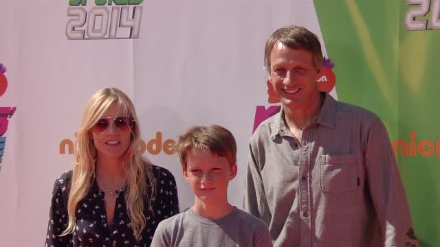 tony hawk nickelodeon kids' choice sports awards 2014 at pauley pavilion on july 17 2014 in los angeles california - nickelodeon stock videos & royalty-free footage