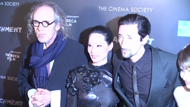 tony kaye lucy liu adrien brody sami gayle and betty kaye at premiere of tribeca film's detachment hosted by american express the cinema society on... - adrien brody stock videos and b-roll footage