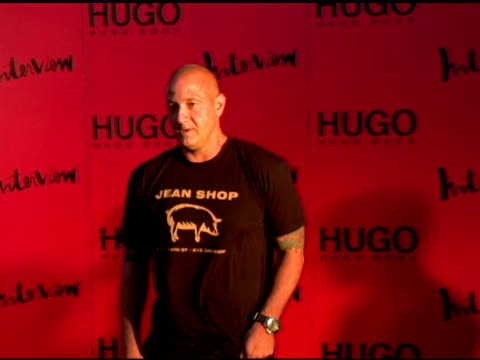 tony lucia, president and ceo of hugo boss at the arckid at hugo boss private concert series at hugo boss roof deck in new york, new york on august... - hugo boss stock-videos und b-roll-filmmaterial