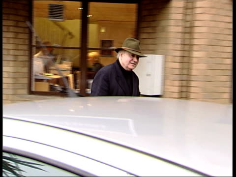 Tony Martin arrested over stolen number plates ITV EVENING NEWS ROMILLY WEEKS Tony Martin towards from BBC Radio Cambridge building PULL MS Martin...