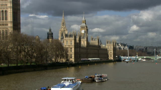 tony mcnulty defends expenses claim on parents' house views of river thames and houses of parliament big ben - tony mcnulty stock videos & royalty-free footage