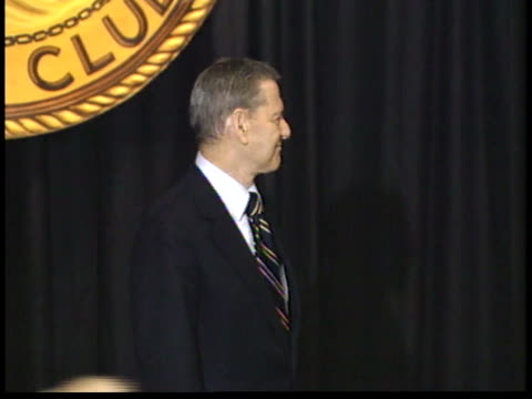 tony randall and unidentified man posing for paparazzi on stage before ceremony - friars roast 1993 stock videos and b-roll footage